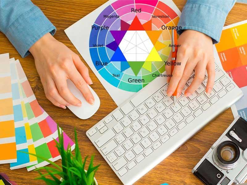 اهمیت انتخاب رنگ بندی مناسب برای سایت
